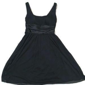 Blue Sage Knee Length Black Dress